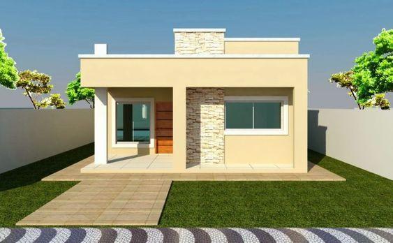 Casas modernas peque as de una planta con terreno de for Casas pequenas de una planta modernas