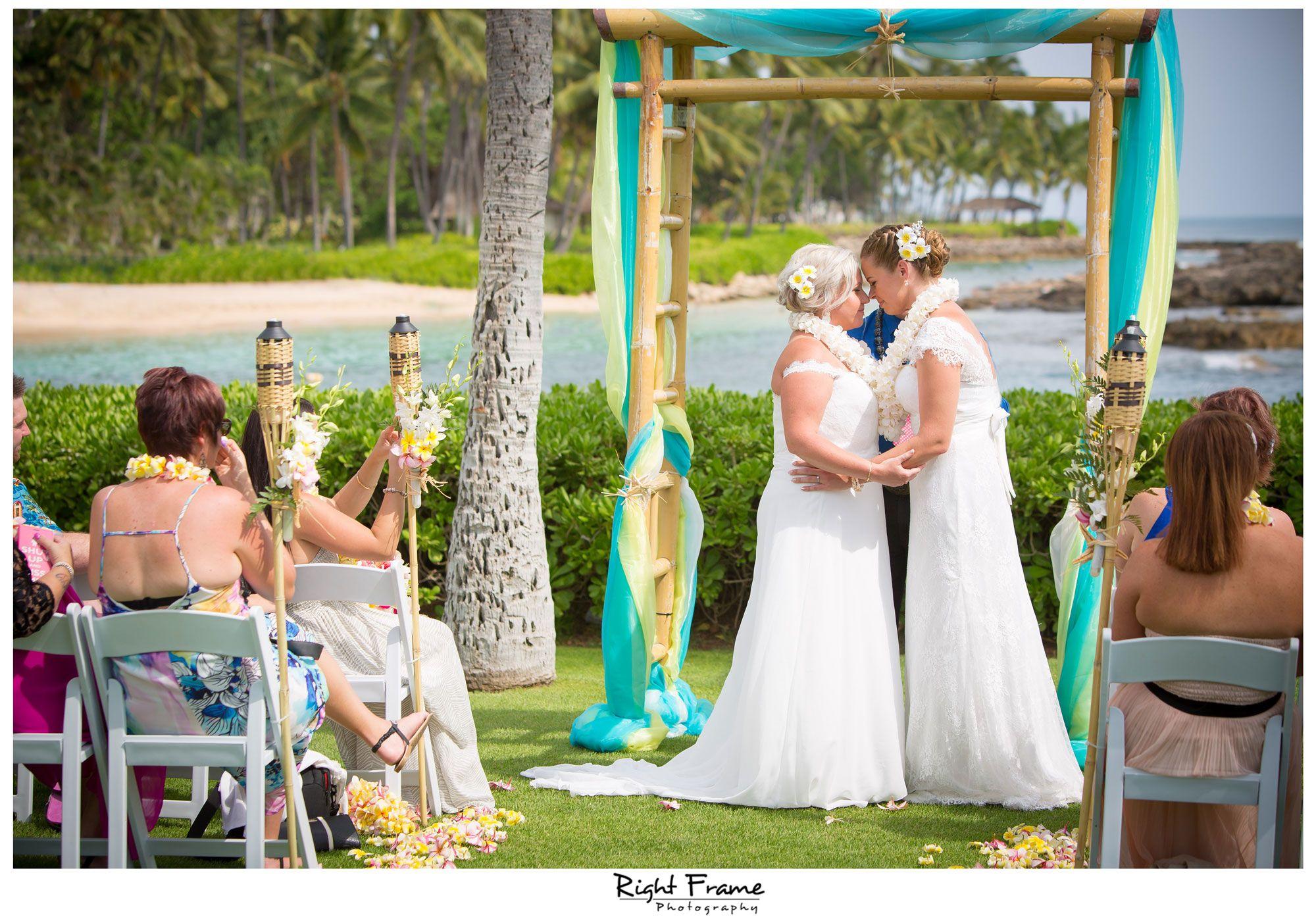 Rightframe Paradise Cove Disney Aulani Resort Hawaii Wedding Photographer