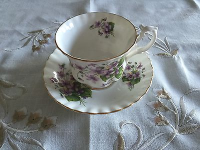 Royal Albert Purple Flower Bone China Tea Cup Made In England