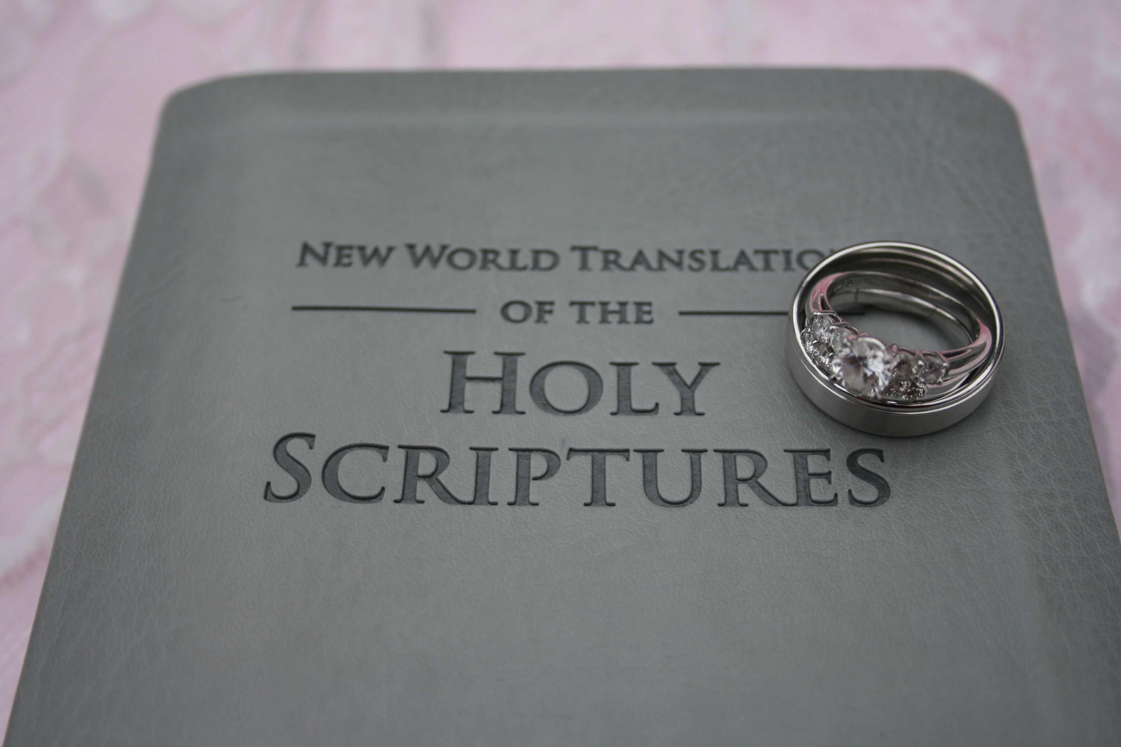 Bible Cover Wedding Rings New World Translation of the