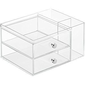 f1c3d7a8af6a InterDesign Clarity Cosmetic Organizer for Vanity Cabinet to Hold ...