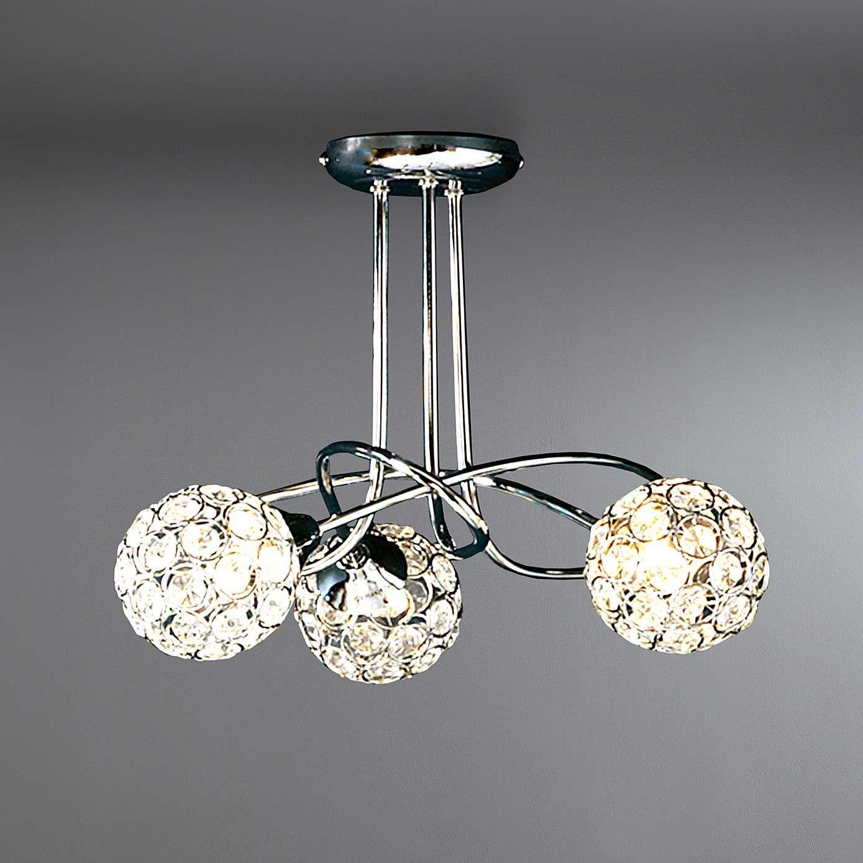 Sphere 3 Light Chrome Ceiling Ing Home Ideas