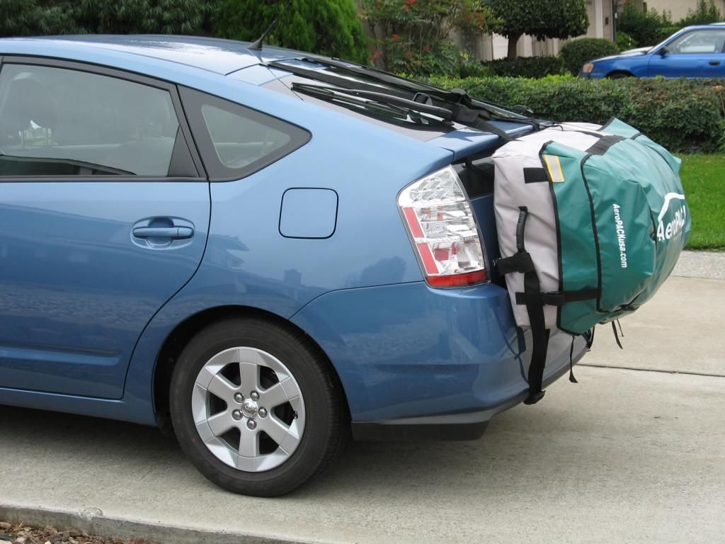 Here Is A Solution For The Prius: Attaches To The Liftgate, Fits Behind,