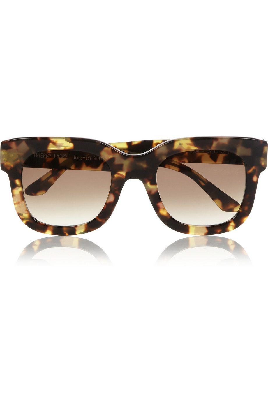 Thierry Lasry | Square-frame tortoiseshell acetate sunglasses
