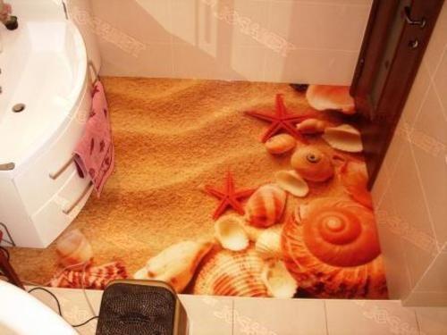 self-leveling 3D flooring for bathroom- 3D floors Among ...