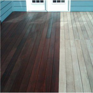 Image Of Stained Decks Deck Refinishing Boston Deck