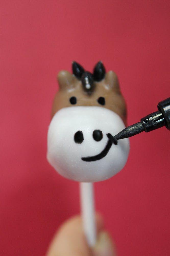 Complete Deelite: Horse Cake Pops #cakepopbouquet