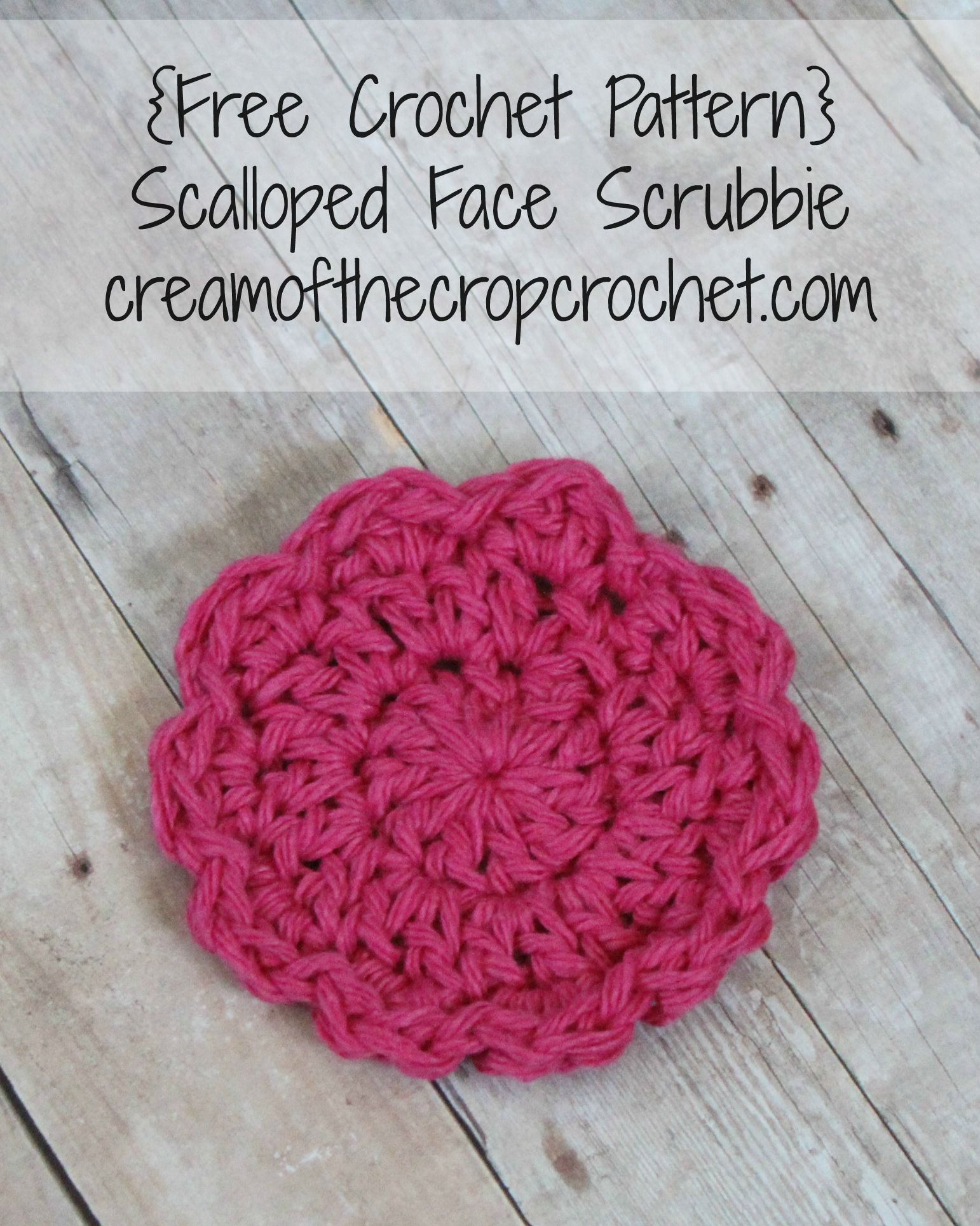 Scalloped Face Scrubbie Pattern | Face, Crochet and Patterns