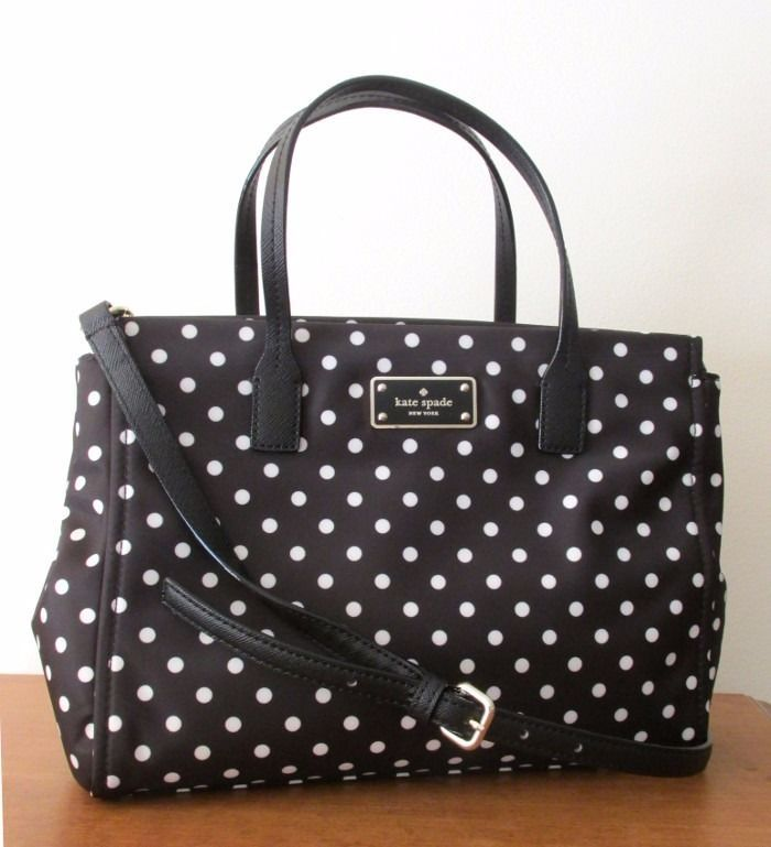 Kate spade blake avenue small loden crossbody bag black polka kate spade blake avenue small loden crossbody bag black polka diamond dot nwt junglespirit Gallery