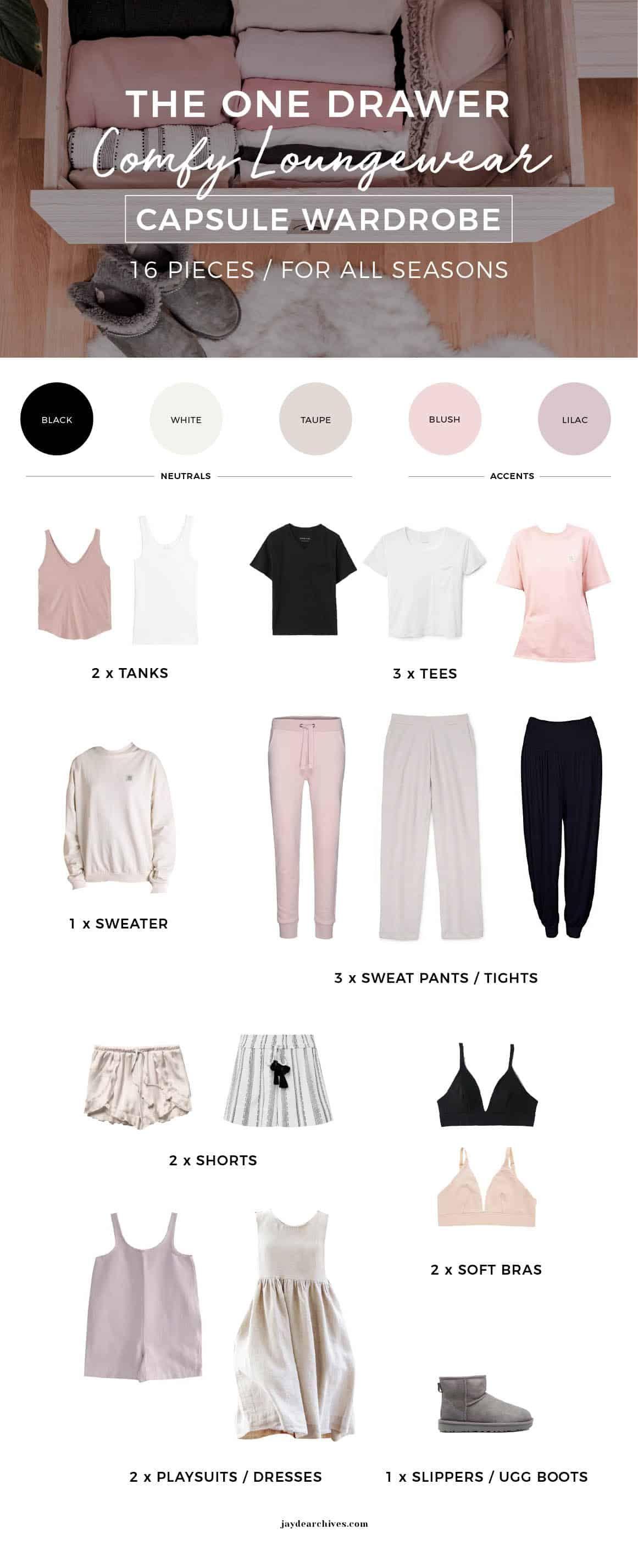 The One Drawer Loungewear Capsule Wardrobe | Jayde Archives