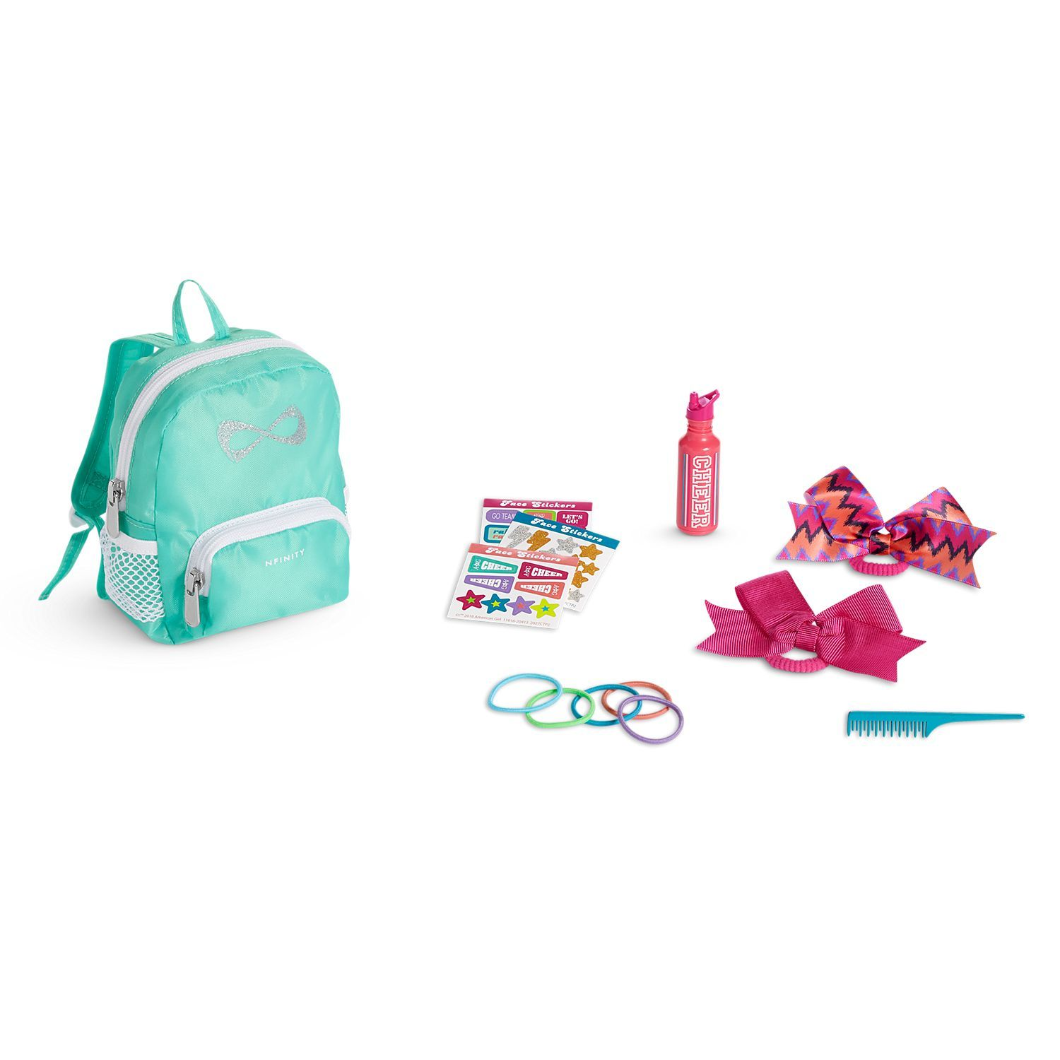 "Sophia/'s JL-TSS 18/"" Doll Travel Set 7 Piece Blue Pink"