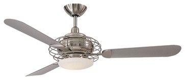 Ceiling Fan Art Deco Art Deco 52 Minka Aire Acero Steel And Nickel Ceiling Fan Ceiling Fan Ceiling Fan Design Contemporary Ceiling Fans