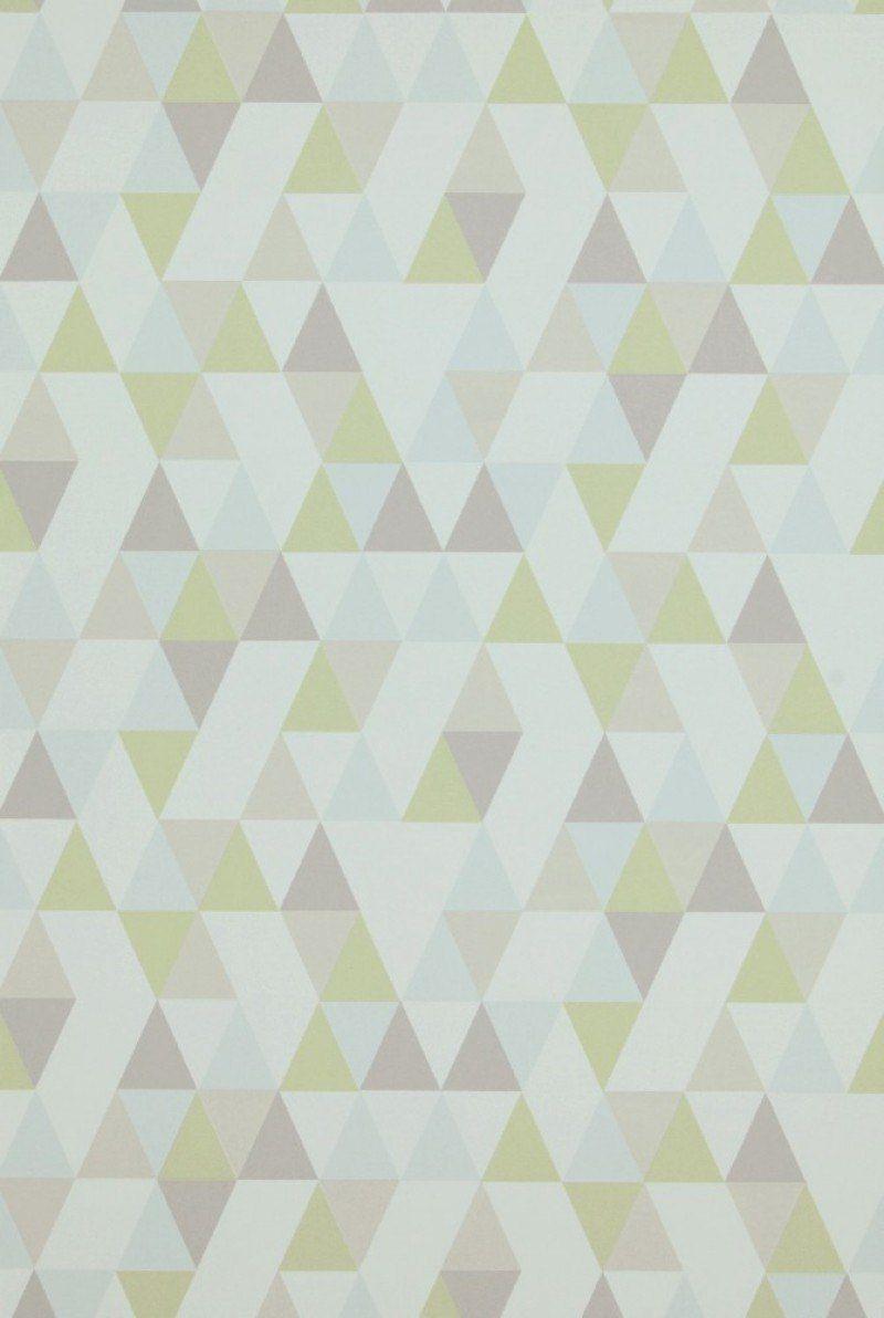 Trilatero Col06 Grafische Tapeten Weiße Tapete Farben Und