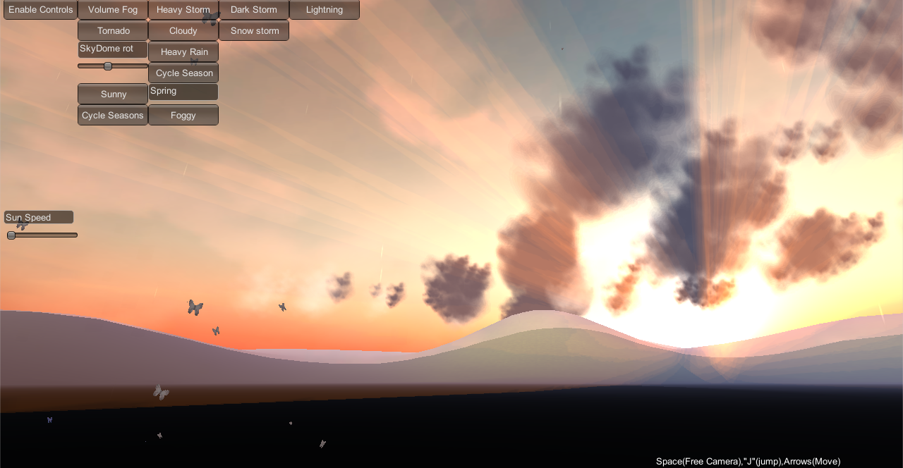 Volumetric atmospheric scattering emulation for sky and terrain, in