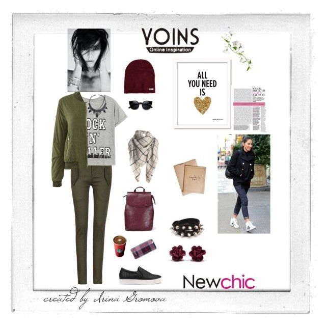 """YOINS"" by iv-gromova on Polyvore featuring мода, Neff, Isaac Mizrahi, Polaroid, women's clothing, women's fashion, women, female, woman и misses"