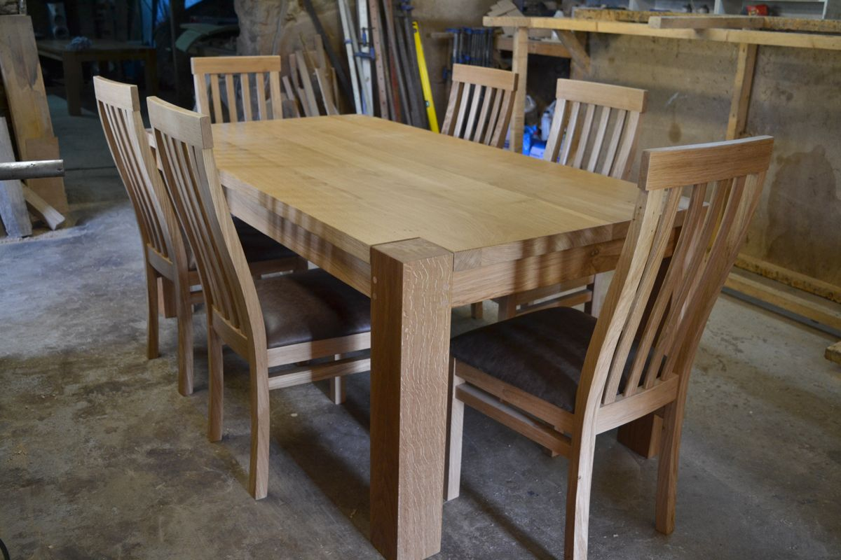 Contemporary Bespoke Dining Table Oak Dining Table Dining Table Oak Dining Chairs