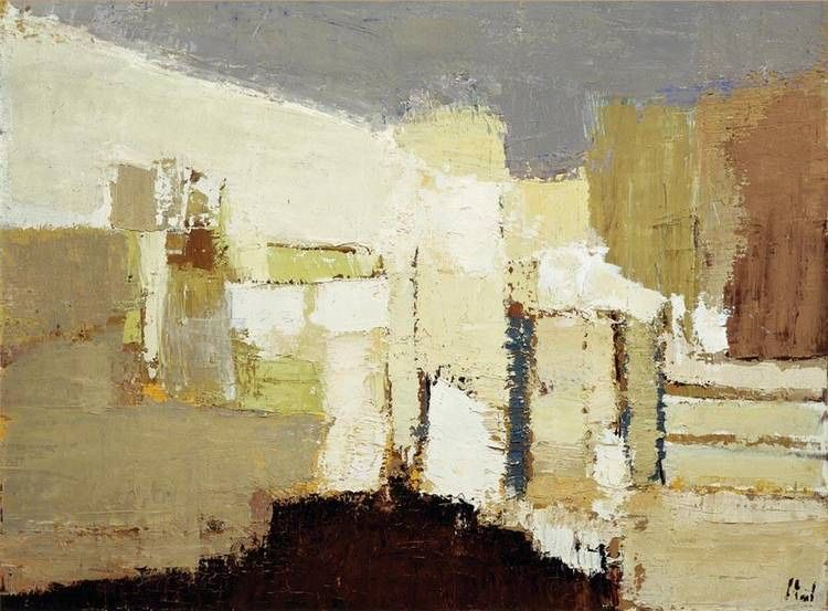 "abstrakshun: "" Nicolas de Staël Paysage á Agrigente - 1953 """