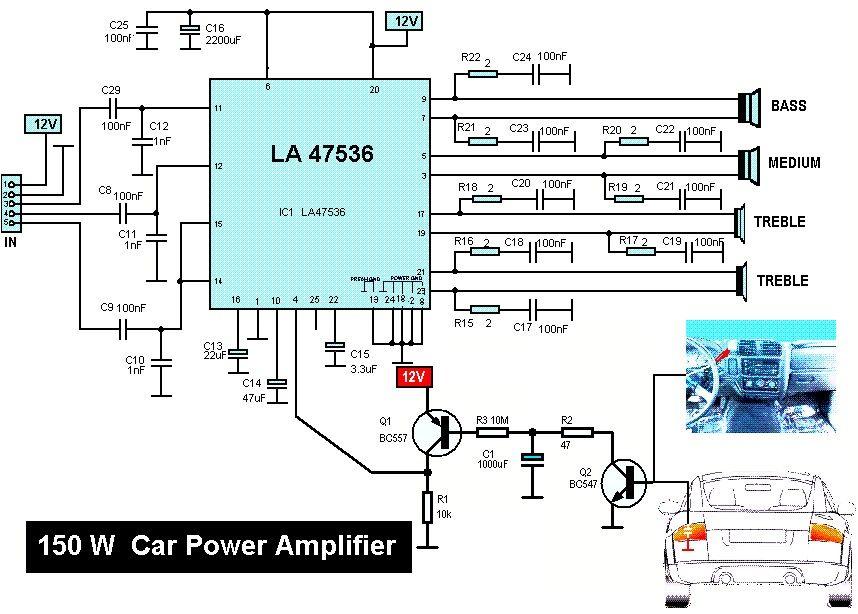 150w Power Amplifier Schematic Design - Wiring Diagram DB