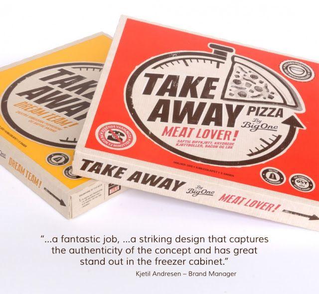 Big One (pizzas à emporter) | Design : Illumination, Londres, Royaume-Uni (août 2014)