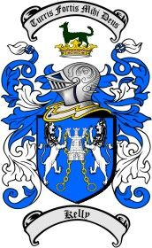 Kelly Coat of Arms / Family Crest from the website www