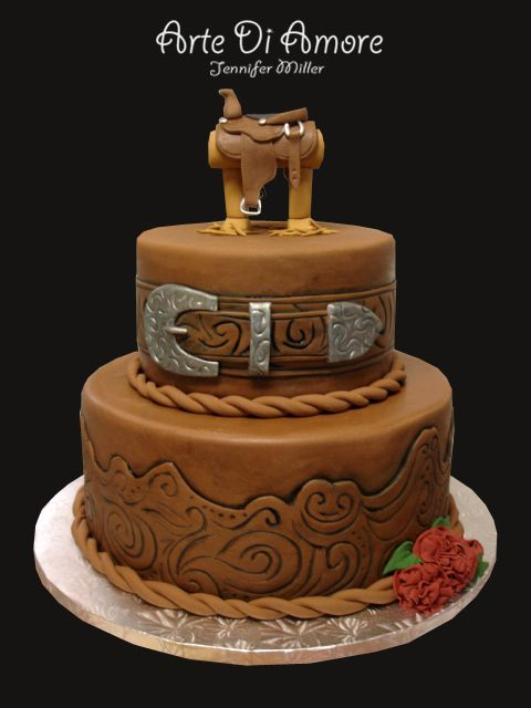 What A Better Idea For A Wedding Cake Than A Leather