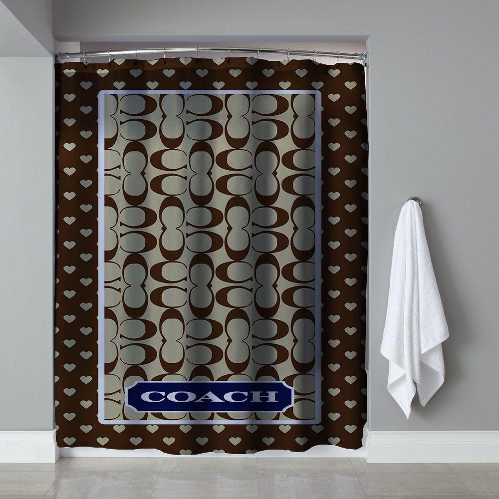 Rare Brown Coach Custom High Quality Shower Curtain 60 034 X72