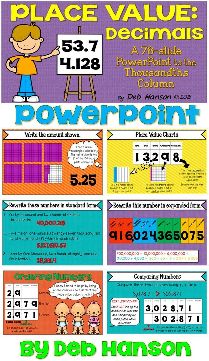 Decimals and place value powerpoint ordering decimals comparing decimal powerpoint with 78 slides includes models place value charts expanded form nvjuhfo Image collections