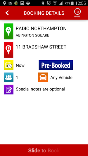 This app will NOT dispatch a taxi, this app is for demo purposes only. <p>Features<br>Lists nearest previous used addresses<br>Shows available vehicles on the map<br>Let's Buddies know the status of your booking<br>Book hours, days or weeks in advance<br>Cancel your booking at any time<br>View previous bookings and re-book them<p>What's New<br>Lists nearest previous used addresses<br>Shows available vehicles on the map<br>Estimated time get a Taxi is shown<br>Let's Buddies know the status of…