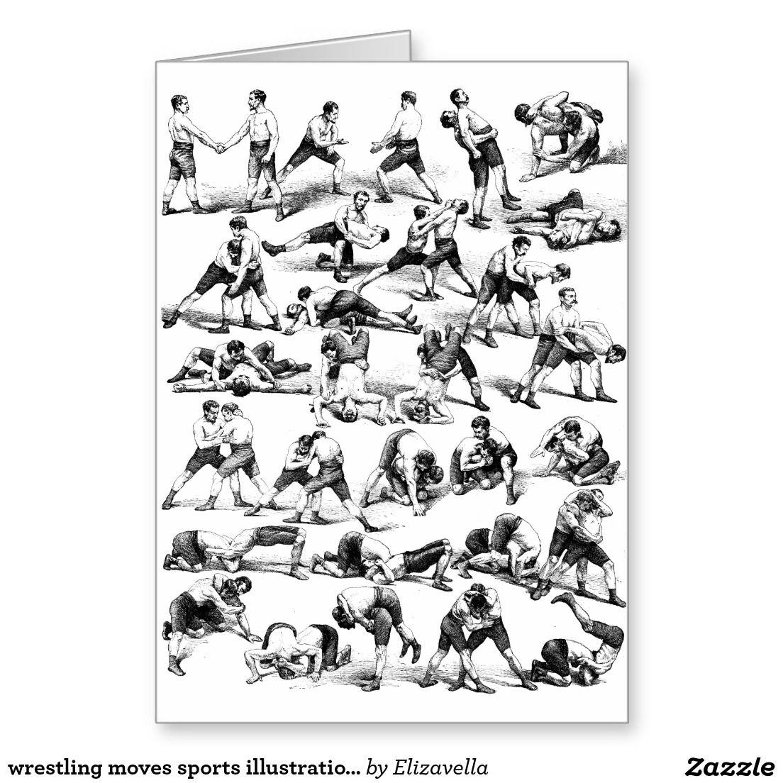 wrestling moves sports illustration Birthday Card – Wrestling Birthday Cards