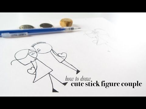 How To Draw A Cute Stick Figure Couple For Valentine S Stick Figures Drawings For Boyfriend Stick Figure Drawing