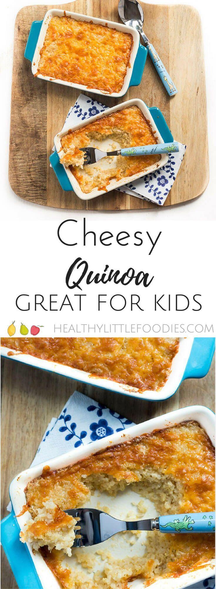 Cheesy Quinoa for Kids -  cheesy quinoa for kids. Cooked quinoa mixed into a cheese sauce and then