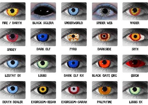 For Halloween revelers turning their eyes from blue to