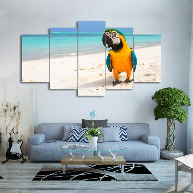 Bird Picture Canvas Print Poster Parrots Wall Art For Home Decor Painting