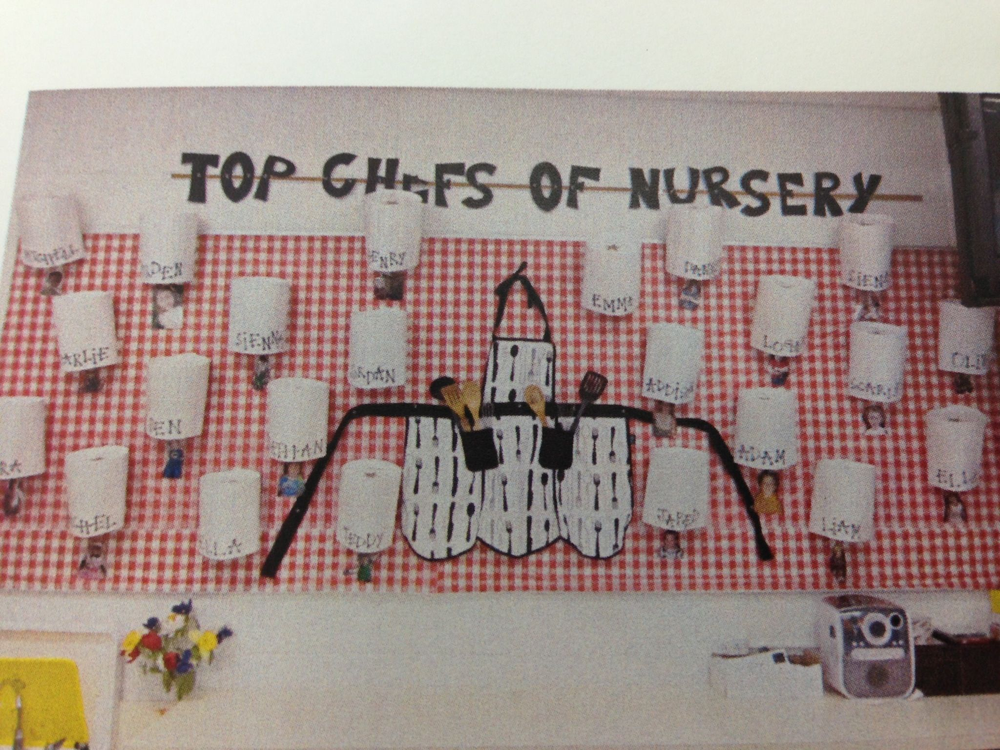 Chefs hats cooking bulletin board preschool pinterest - Tablones de anuncios ...