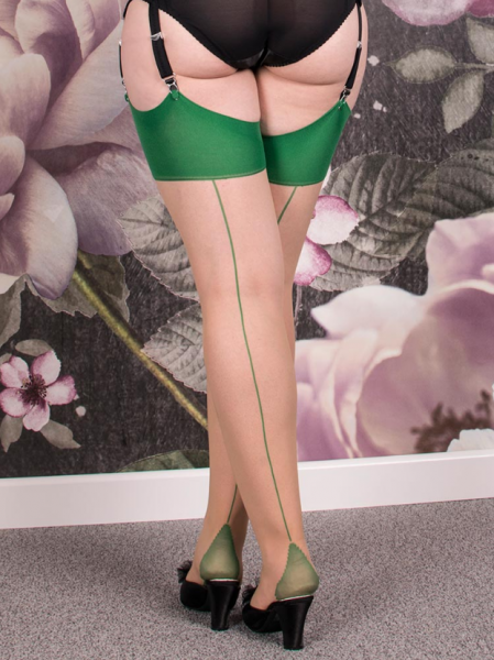68cf66e9f67 What Katie Did retro seamed stockings in emerald green