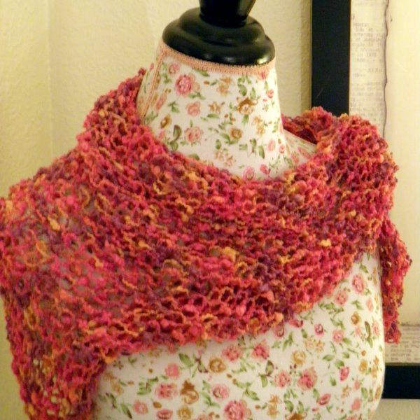 Free+Knitting+Pattern+Triangle+Shawl | Beginner Triangle Shawl ...