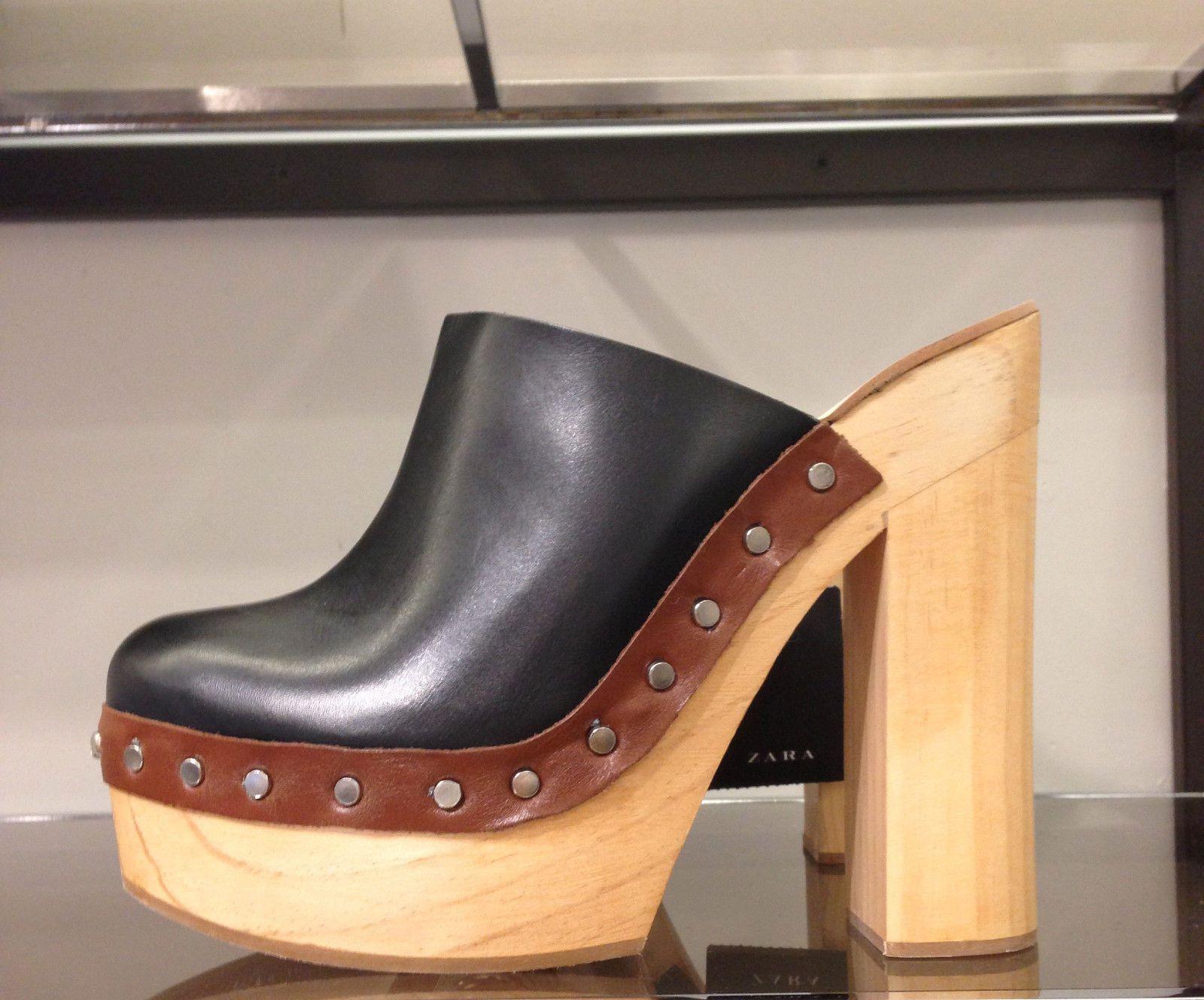 0ceba2b5654 ZARA Leather clogs 36-41 REF. 2568 001