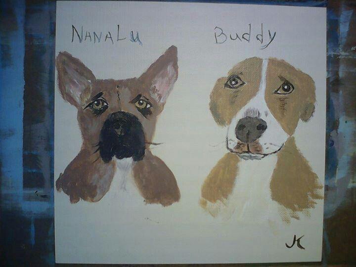 Our furry kids, Nanalu and Buddy.