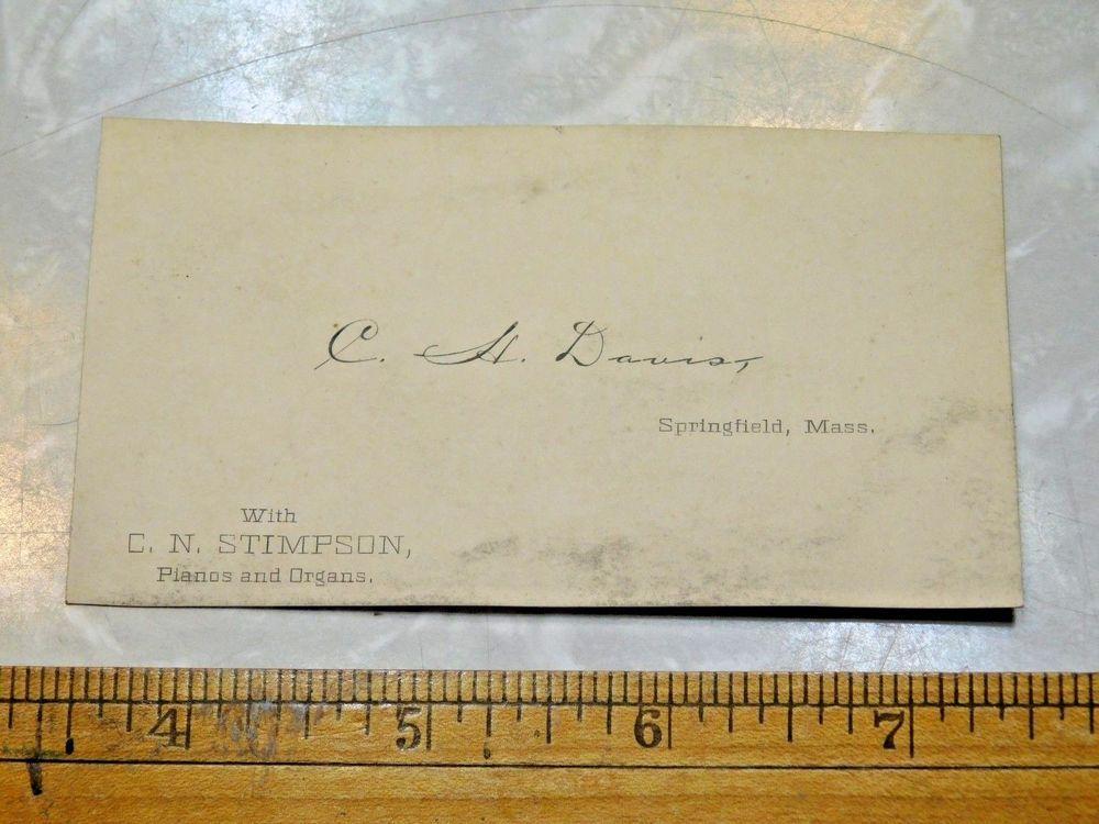 1880s C.H. Dauist, C.N. Stimpson Pianos & Organs Victorian Business ...
