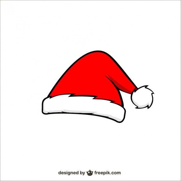 Santa Claus Cartoon Hat Free Vector Santa Claus Cartoon Printable Stickers Christmas Santa Hat Vector