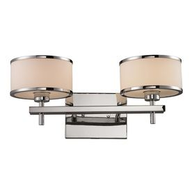 westmore lighting 2 light lufton polished chrome with white blown
