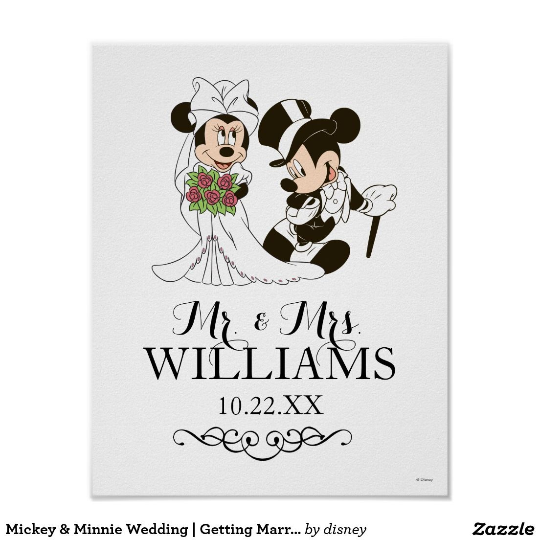 Mickey & Minnie Wedding | Getting Married Poster | WEDDING POSTERS ...