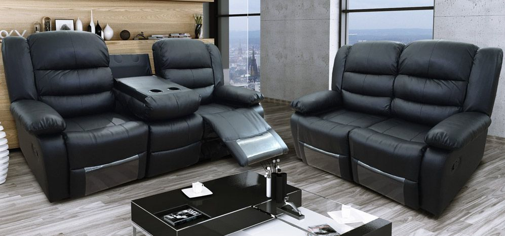 Seater Recliner Leather Sofa