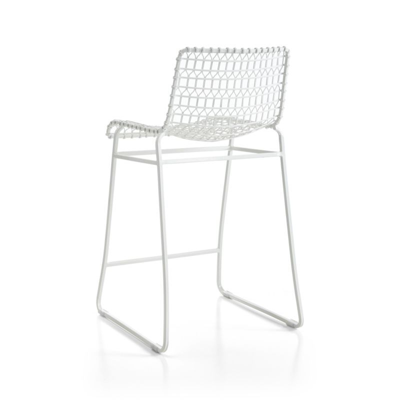 Marvelous Tig Indoor Outdoor White Metal Bar Stool Products Metal Pabps2019 Chair Design Images Pabps2019Com