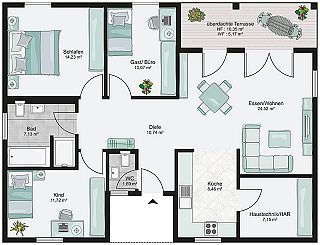 Bungalow bauen mit streif h user pinterest bungalow for Behindertengerecht bauen