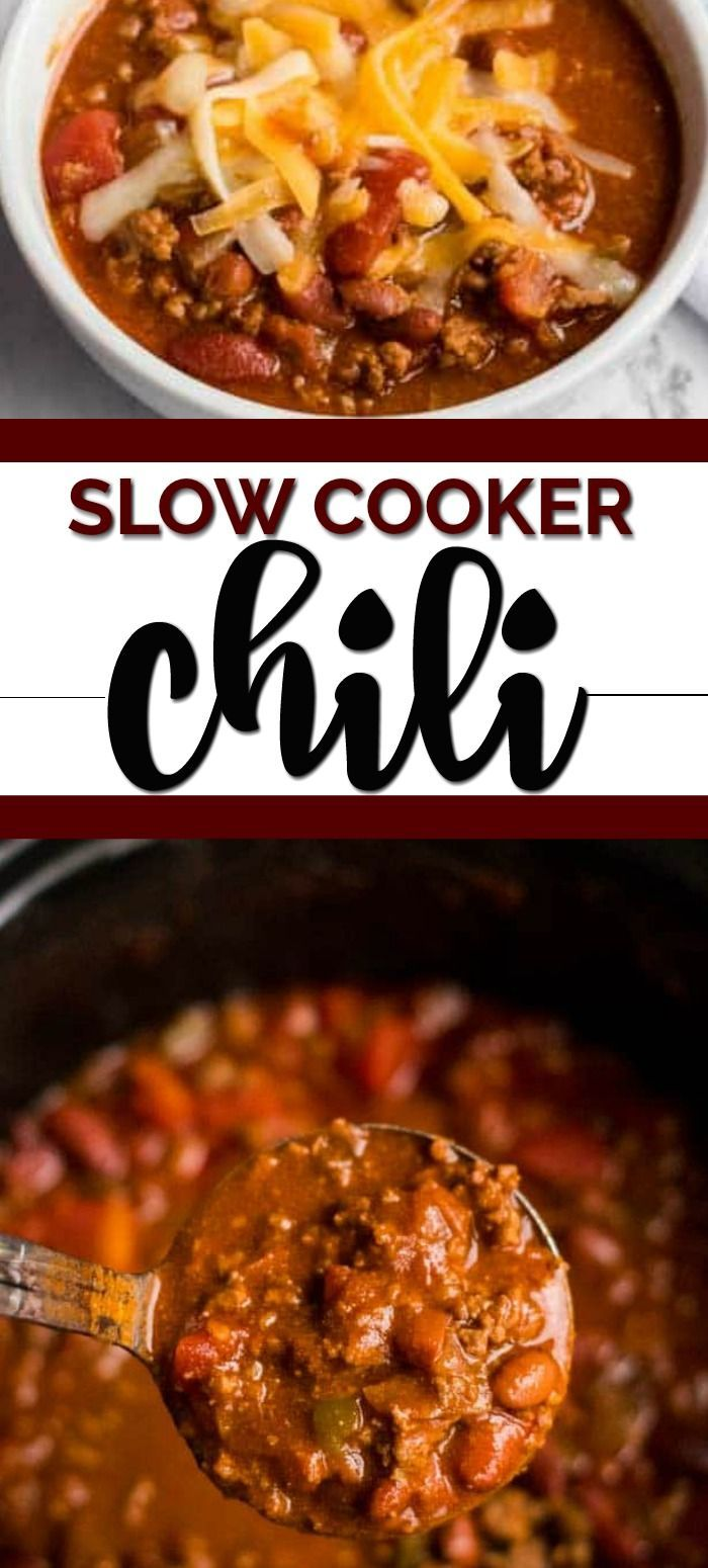 "MAKE GREAT USE OF YOUR SLOW COOKER BECAUSE THIS EASY CROCKPOT CHILI RECIPE PUTS THE ""CHILL"" IN CHILI I remember when I was a little girl and my mother would make homemade chili from scratch.  She had an enormous pot that could make gallons of chili. Something I now replicate with my slow cooker.  I remember how wonderful the entire house would smell as the chili simmered away all day. The best part was when we all sat down to eat it.  My mother would serve it steaming hot. My siblings and I didn #easypotluckrecipes"