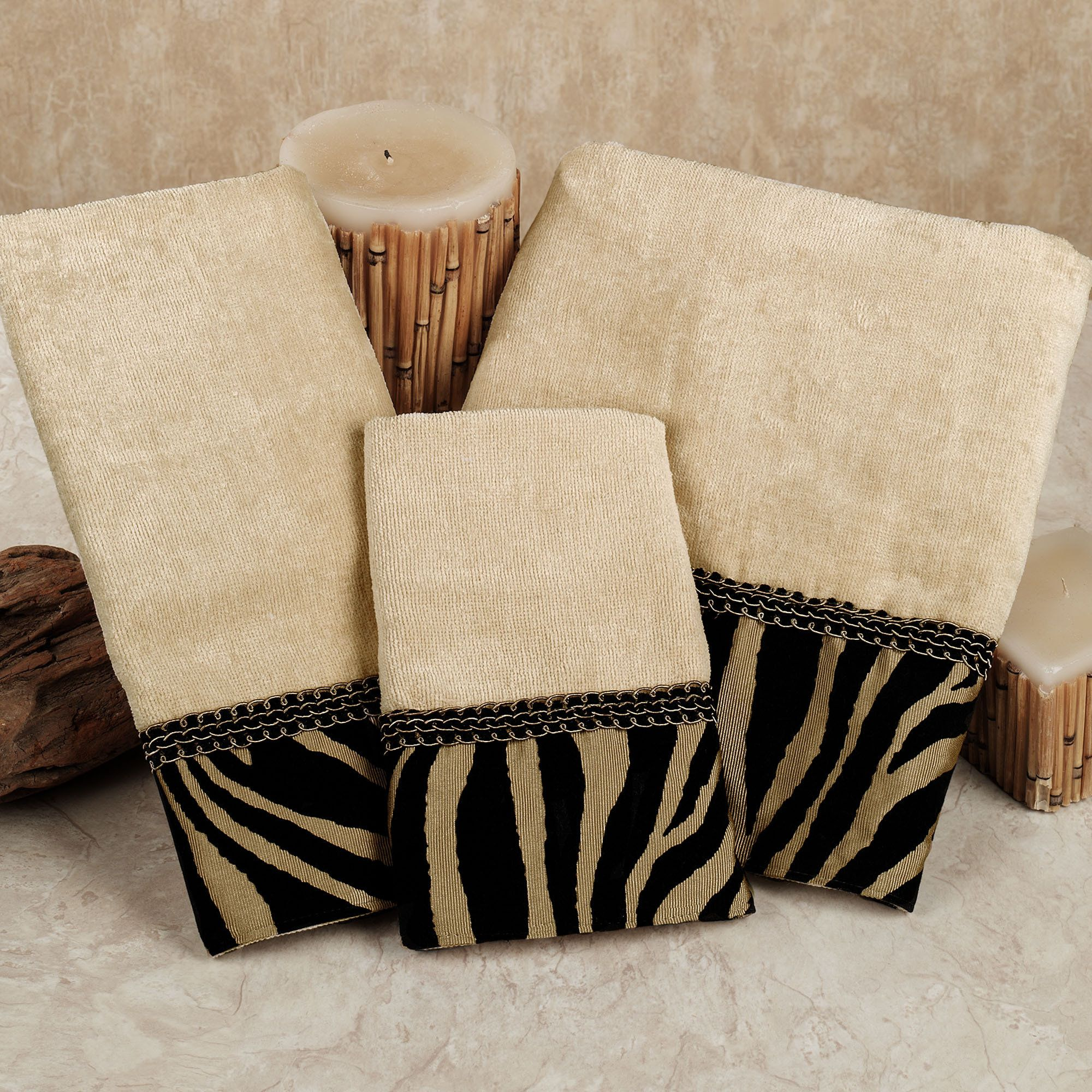 zuma zebra decorative towel set decorative towels towels and house