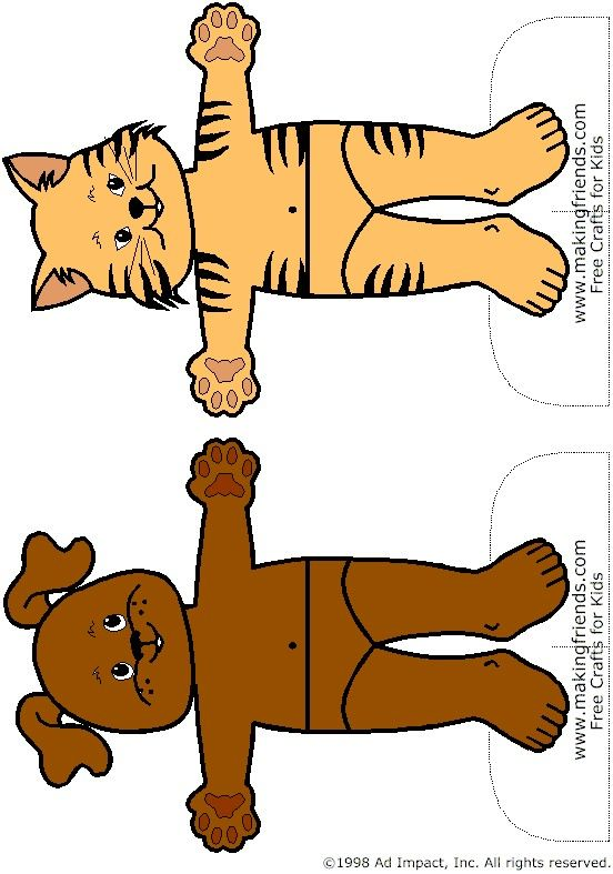 Cute paper dolls  In this case, Animal Friends... more free printables on the website