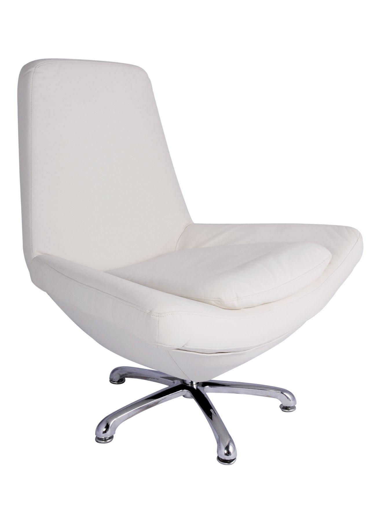 Amsterdam Chair | Desk Chair U2013 Color: Off White Leather U2013 Dimensions: 38u2033