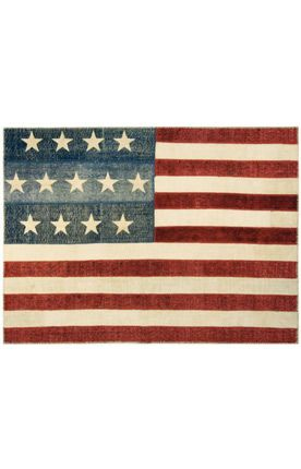 Overdyed American Flag Iii Multi Rug Rugs Contemporary Rugs American Flag